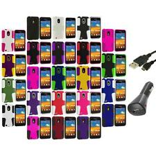 Hybrid Mesh Case Cover+Charger+USB for Samsung Sprint Galaxy S2 S II Epic Touch