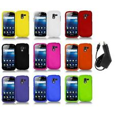 Color Hard Snap-On Case Skin Cover+Charger for Samsung Exhilarate i577
