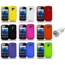 Color Hard Snap-On Case Skin Cover+USB Charger for Samsung Exhilarate i577