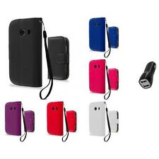 For Samsung Galaxy Ace Style Wallet Flip Pouch Case Cover 2.1A Charger