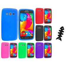 For Samsung Galaxy Avant G386 Silicone Rubber Case Cover Cable Wrap