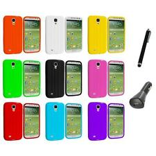 Tire Tread Soft Silicone Case Cover+Charger+Pen for Samsung Galaxy S4 SIV i9500