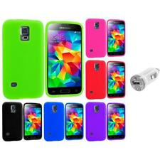 For Samsung Galaxy S5 Mini Silicone Case Cover Accessory USB Charger
