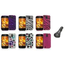 For ZTE Force N9100 Bling Rhinestone Design Hard Case Cover+Car Charger