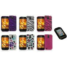For ZTE Force N9100 Bling Rhinestone Design Hard Case Cover+Sticky Pad