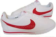 Nike Cortez GS Leather White Red Juniors Womens Girls Boys Trainers 749482
