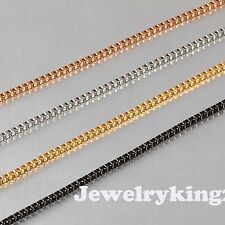 "2MM Gorgeous Necklace Elegant Stainless Steel Box Chain Various lengths 20""-40"""