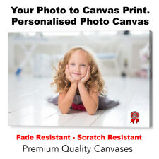 Your Photo on Canvas - Personalised Photo to Canvas Box Print Multi Listing Size