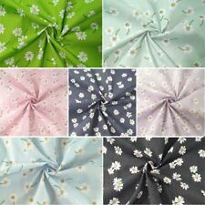 Floating Daisy Flowers Floral Polka Dots Spots Polycotton Fabric