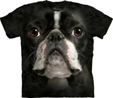 New The Mountain Boston Terrier Face T Shirt