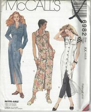 McCalls Sewing Pattern # 6982 Misses Dress with Sleeve Variations Choose Size