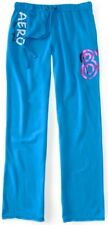 Blue Aeropostale Aero New York 87 Boyfriend Womens Fleece Sweat Pants Sz Large