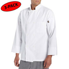 3 PACK Dickies Chef Coat 8 button Womens Mens Long Sleeve Chef Jackets DC118