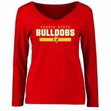 Ferris State Bulldogs Women's Red Team Strong Long Sleeve Slim Fit T-Shirt