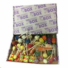 Toot Sweets The Sweet Box Mixed Lolly Lollipops Retro 36 Lollies Gift Box