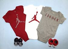AIR JORDAN 5-piece BOYS Outfit Gift Set: Bodysuits/Rompers & Booties 0-6 Months.
