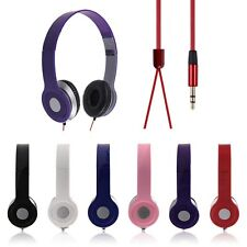 Hot For Phone Laptop PC Tablet MP3 MP4 3.5mm Headphone Earphone Headset Stereo