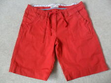EX FAT FACE RED MIX PURE COTTON VINTAGE WASH BELTED UTILITY SHORTS SIZE 8 10