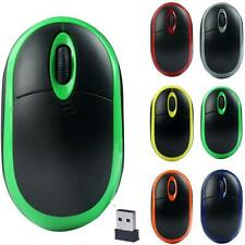 2.4GHz Wireless Portable Optical 3D Buttons Mice Mouse With Receiver Durable