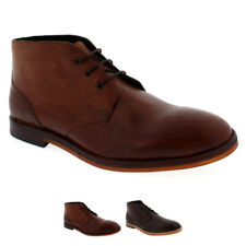 Mens H By Hudson Houghton 2 Lace Up Chukka Boot Leather Smart Ankle Shoe US 7-13