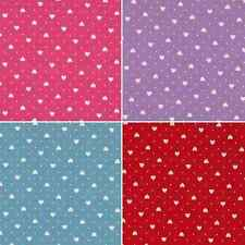 Mini Hearts and Pin Spots Polka Dots 100% Cotton Patchwork Fabric (Makower)