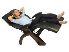 Leather PC-410 Dark Walnut Wood Human Touch Zero Gravity Perfect Chair Recliner