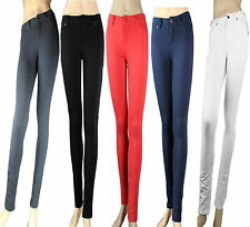 Casual Jeggings Low-Rise Skinny Pants w/ Zipper Stretch Slim Trousers Solid S-XL