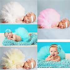Cute Newborn Baby Tutu Dress Headband and Clothes Birthday Photo Prop Outfits