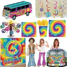 60s Years Party Decoration Hippie Flower Power Peace Set Sixties Motto