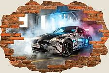 3D Hole in Wall Nissan 370Z Nismo Gumball View Wall Sticker Decal Mural 828