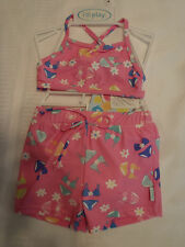 iPLAY Baby Girls 12 Month Pink Swimsuit Swim Diaper Choice Shortini NWT