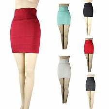 Sexy Thick Knit Stretch High Waist Mini Skirt Comfortable Warm Quit BODYCON  SML