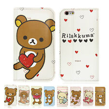 Rilakkuma New Flip Leather Card Wallet Diary Cover Case For Apple iPhone 5 / 5S
