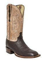 Lucchese H2510 W8 Mens Jurassic Brown Sheepskin Leather Western Cowboy Boots