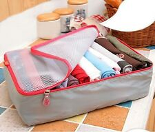 3PCS Portable Travel Luggage Storage Bag Cube Organizer Bag For Packing Kit Set