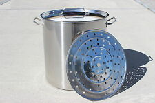 New Stainless Steel Stock Pot Home Brew Kettle Mash Tun w/ Steamer Insert