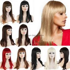 Stylish Long Straight Full Wig Cosplay Party Daily Dress Black Brown Blonde GT