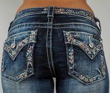 Miss Me Jeans Tribal Border, Leather, Boot Cut, 25 26 27 28 29 30 31 32 33 34