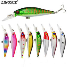 New Lot 1pcs Fishing Lures Bass CrankBait Minnow Crank Bait Tackle Hooks 10CM