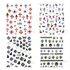 1Sheet 3D Nail Art Transfer Stickers Decals Decoration Flower Butterfly Pattern