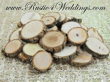 100 qty 1 inch to 1.5 inch wood slices, tree slices, rustic wedding, USA