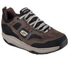 57501 Brown Skechers Shoes Shape Ups New Men Memory Foam Fitness Walker Comfort