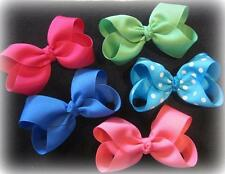 Boutique Hairbows - Lot Set of 14 Bows - Single Layer Hair Bows - 4 Inch Medium