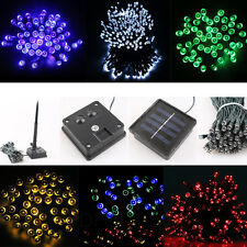 LED Solar Powered Lights Indoor Outdoor Xmas Party Garden String Fairy Lamps