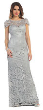 Long Cap Sleeve Lace 2016 Mother of the Bride Dress Cut of Back