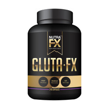 Nutrafx L- Glutamine Capsules 1000 mg | Muscle Growth and Recovery (240 Caps)