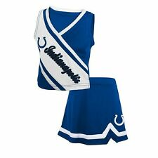 NWT NFL Team Apparel Indianapolis Colts Toddler Girls Cheerleader Set: 2T-4T