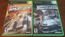 WRECKLESS: YAKUZA MISSIONS AND LA RUSH BUNDLE LOT XBOX! GOOD, 1 WITH MANUAL
