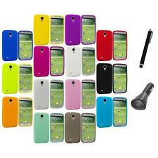 Silicone Rubber Soft Case Cover+Charger+Pen for Samsung Galaxy S4 S IV i9500
