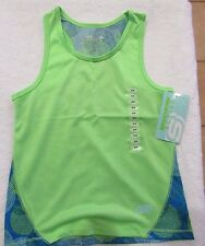 Skechers Brand Girl's Active Tank Top Green/blue  2 Sz 4, 5/6 & 10/12   NWT